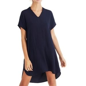 Madewell Navy Blue Bicoastal Shirt Dress Size XXS